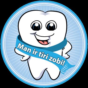 Man ir tīri zobi!